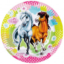 Pappteller Pferde
