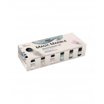 KREUL Magic Marble Marmorierfarben Set Chalky Living 6 x 20 ml
