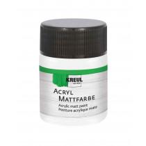 KREUL Acryl Mattfarbe Pastellweiss 50 ml
