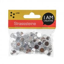 Strasssteine Mix silber