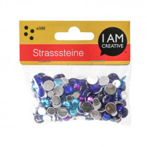 Strasssteine Mix blau