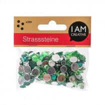 Strasssteine Mix grün