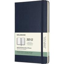 Schüleragenda Large Hard Cover Weekly Notebook Saphirblau