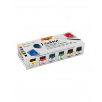 KREUL Javana Stoffmalfarben für helle Stoffe Set Grundfarben 6 x 20 ml