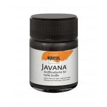 KREUL Javana Stoffmalfarbe für helle Stoffe Schwarz 50 ml
