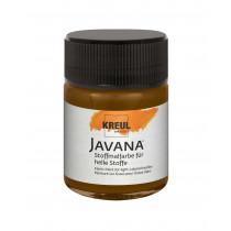 KREUL Javana Stoffmalfarbe für helle Stoffe Dunkelbraun 50 ml