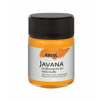 KREUL Javana Stoffmalfarbe für helle Stoffe Leuchtorange 50 ml