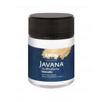 KREUL Javana Stoffmalfarbe Metallic Weiss 50 ml