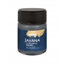 KREUL Javana Stoffmalfarbe Metallic Anthrazit 50 ml