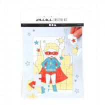 Mini-Kreativset Puzzle-Superheld