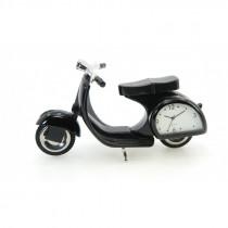 Miniatur Uhr Scooter schwarz