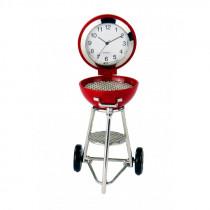 Miniatur Uhr Grill rot