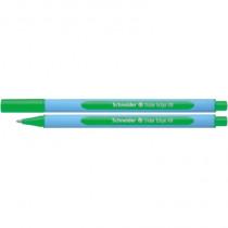 Schneider Kugelschreiber Slider Edge, Kappenmodell, Mine: Fluid-Paste, Strichstärke: 1,5 mm, Schreibfarbe: grün