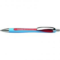 Schneider Druckkugelschreiber Slider Rave, Druckmechanik, Mine: G2-Metall-Großraummine Slider 755, Strichstärke: 1,5 mm, Schreibfarbe: rot, Mine auswechselbar