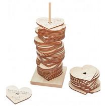 Gästebuch Hochzeit Holzstapel Herz 2