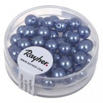 Renaissance Glaswachsperlen, 6mm ø, azurblau
