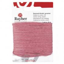 Baumwollkordel, gewachst, pink