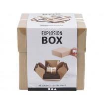 "Geschenkbox ""Explosionsbox"" Karton Natur"