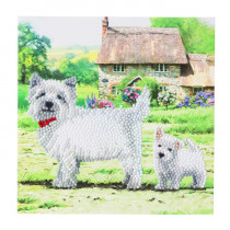Crystal Art Card Westie