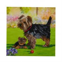 Crystal Art Card Dogs