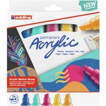 EDDING 5000 Acrylmarker 5er Set abstrakt