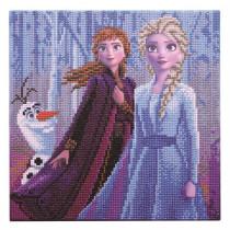 Bastelset Crystal Art Disney Elsa, Anna & Olaf