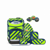 ergobag cubo Schulrucksack Set IllumiBär 6tlg. Neo Edition Set