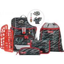 2in1 Plus Schulrucksack Set 6teilig Fire Dragon
