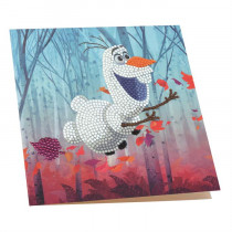 Crystal Art Card Disney Floating Olaf