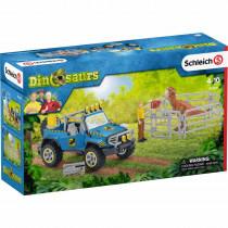 Geländewagen mit Dino-Aussenposten