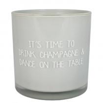 """Kerze """"Drink Champagne"""""""