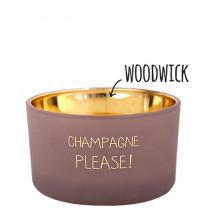 """Kerze """"Champagne please"""""""