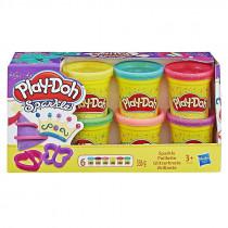 Play-Doh Glitzerknete 6er Pack Set