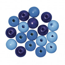 Holzperlen Mischung 10mm ø blau