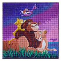 Bastelset Crystal Art Disney Lion King Family