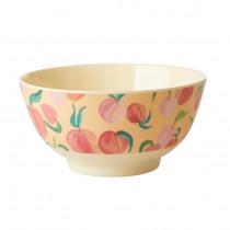 Peach Print Bowl Rice