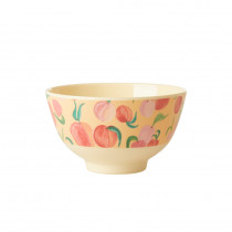 Peach Print Bowl Small Rice