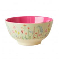 Summer Flowers Print Bowl Rice