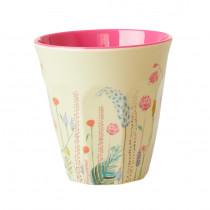 Summer Flowers Print Becher Rice