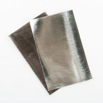 Metallic Kunstleder-Zuschnitte, 2 Farben