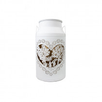 Milchkannen Laterne Les Amoureux Ligne Blanche