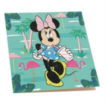 Crystal Art Card Disney Minnie on Holiday