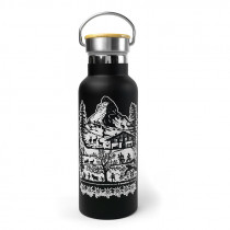 Trinkflasche Swiss Tradition schwarz