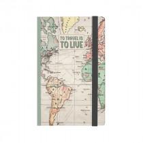Notizbuch 12 x 18 cm Travel