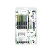 Brushpen Watercolor Set Grün