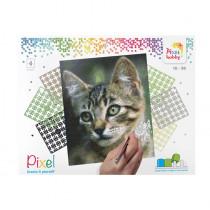 Pixelset 4er-Platte Katze