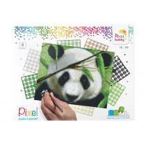Pixelset 4er-Platte Panda
