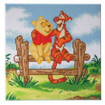 Bastelset Crystal Art Disney Pooh and Tigger