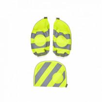 Seitentaschen Zip-Set mit Reflektor gelb