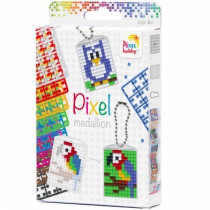 Pixel Medaillon Key Ring Set